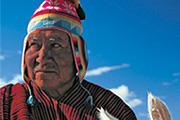 Bolivia, Lake Titicaca, Chamata tribe